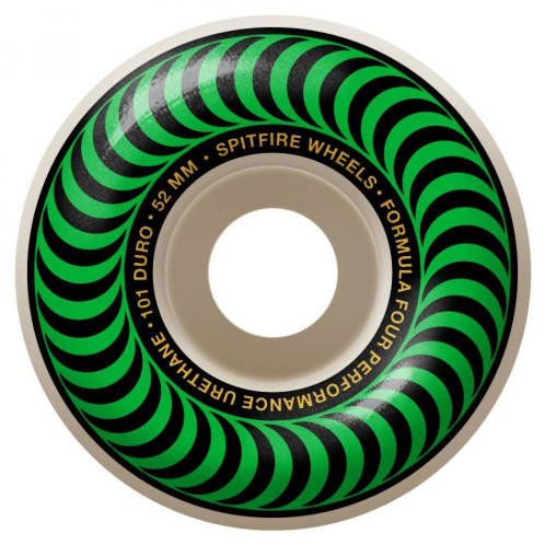 Spitfire Formula Four Classic Wheels Green 101DU 52mm