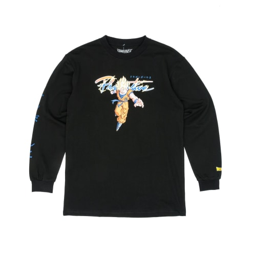 Primitive x Dragon Ball Z Nuevo Goku Saiyan Long Sleeve T-Shirt - Black