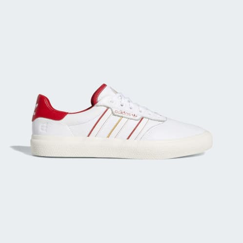 Adidas 3MC Vulc Evisen Shoes - Cloud White/Scarlet/Gold Metallic