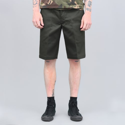 Dickies 273 Slim Fit Work Shorts Olive Green
