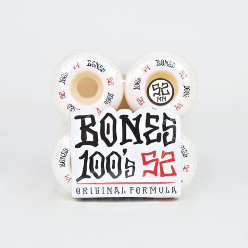 Bones - 52mm 100's V4 Skateboard Wheels