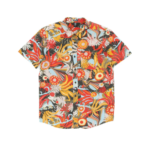 Volcom Psych Floral Short Sleeved Shirt - Army