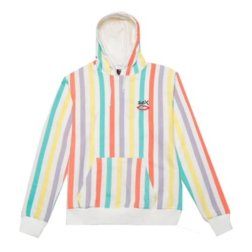 Sex Skateboards Slater Hoody - Lime Stripe