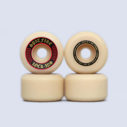 Spitfire 52mm 101DU Formula Four Lock Ins Wheels Natural