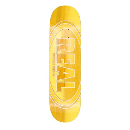 Real Oval Duo Fade Yellow Deck - 8.25""