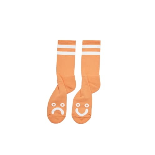 Polar Skate Co. - Happy Sad Socks - Light Orange