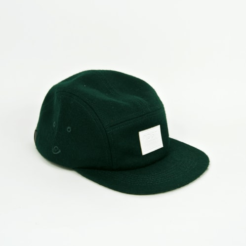 Post Details - Five Panel Wool Cap - Forest Green