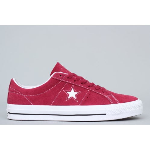 3c7c00f79c5 Converse One Star Pro OX Shoes Rhubarb   Black   White