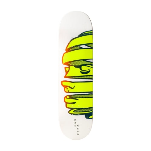 "Madness Skateboards - 8.375"" Head Peel Deck - Yellow / White"