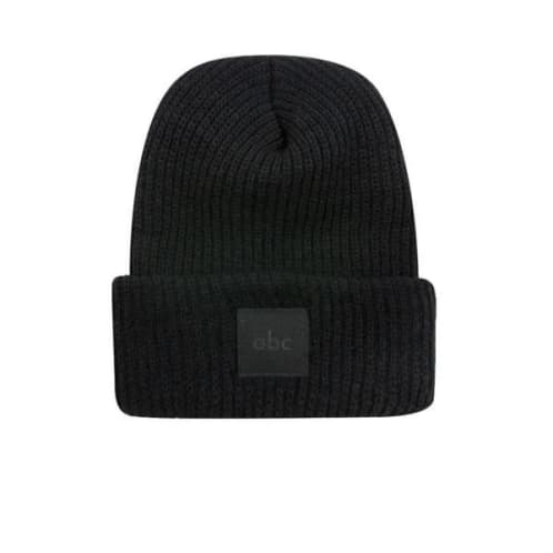 abc Hat Co Cuff Beanie - Black
