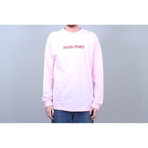 Passport Official Embroidered Longsleeve T-Shirt Hot Pink