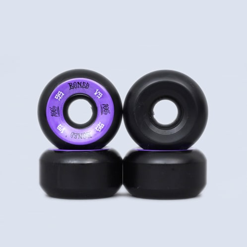 Bones 55mm 100's V5 Wheels Black / Purple