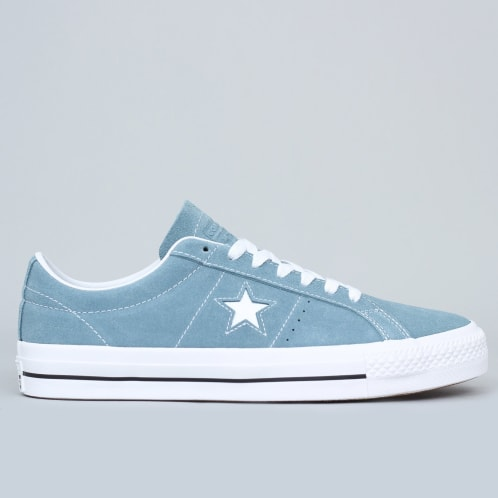 Converse One Star Pro OX Shoes Celestial Teal / Black / White