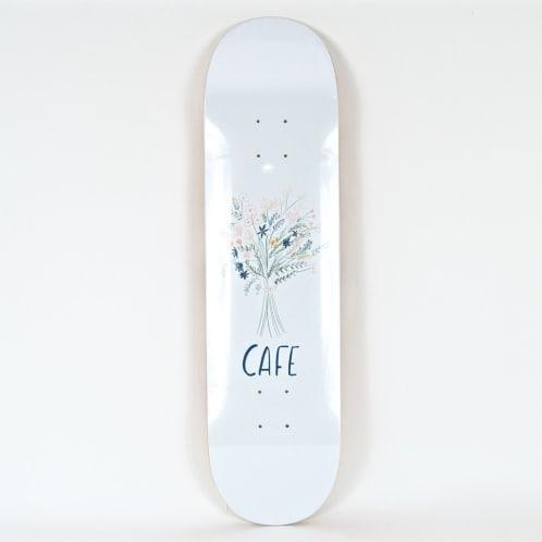 "Skateboard Cafe - 8.25"" Bouquet Deck - White"
