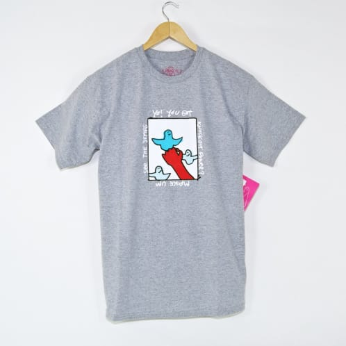Krooked Skateboards - Knockout Power T-Shirt - Athletic Heather