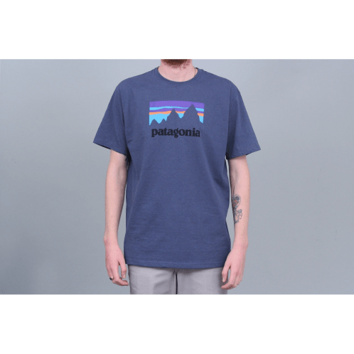 Patagonia Shop Sticker Responsibili T-Shirt Dolomite Blue