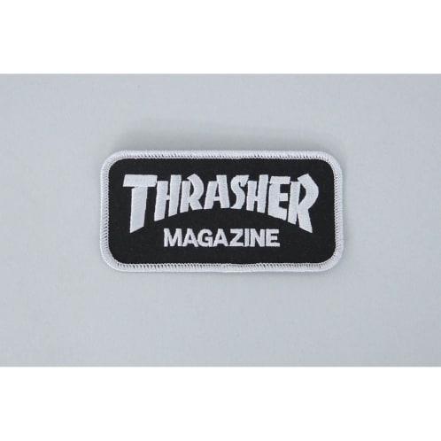 Thrasher Magazine Logo Patch Black / Silver