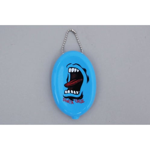 Santa Cruz Screaming Wallet Coin Pouch Blue