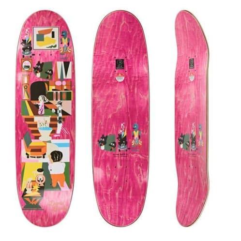 """Polar Skate Co """"Dane Brady - Hypergamy"""" Football shaped Skateboard Deck 8.75"""""""