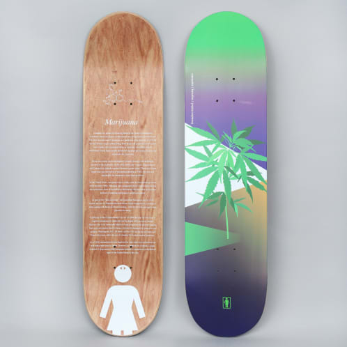 Girl 8 Brandon Biebel The Psychedelic Plants Skateboard Deck