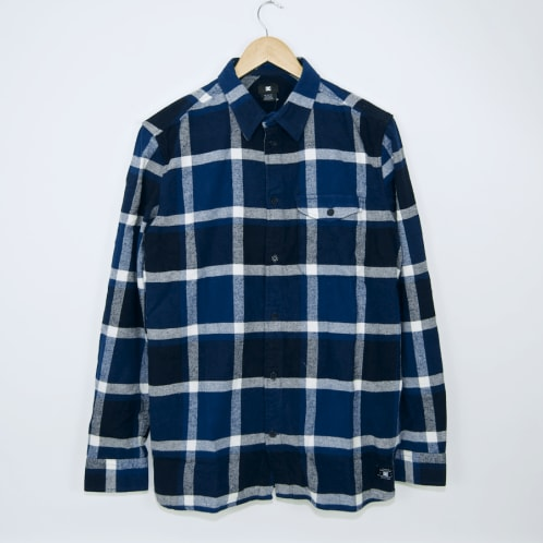 DC Shoes - Marsha Flannel Shirt - Washed Indigo