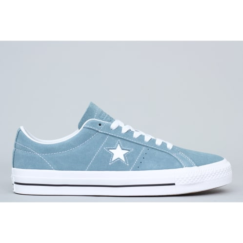 fb6b3bbeb0beca Converse One Star Pro OX Shoes Celestial Teal   Black   White