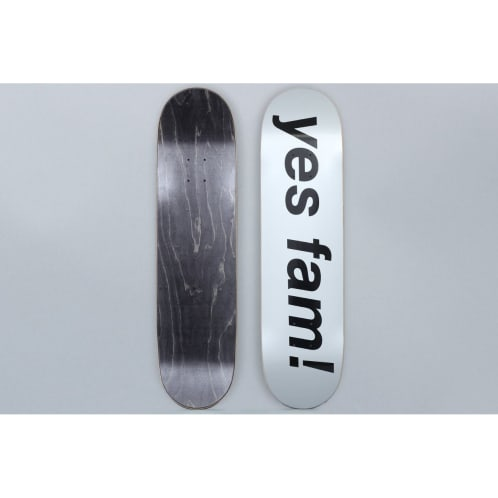 Yes Fam 8.125 Logo Skateboard Deck Silver / Black