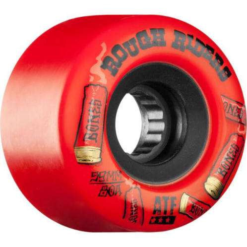 Bones Rough Riders Shotgun ATF Skateboard Wheel - Red 59MM