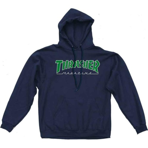 Thrasher Outline Hoodie Navy