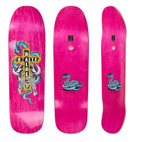 "Polar Skate Co ""Hjalte Halberg Beast Mode II"" shaped Skateboard Deck 1991 9.25"""
