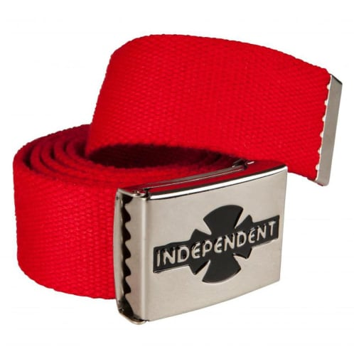 Independent Trucks Clipped Web Belt - Red