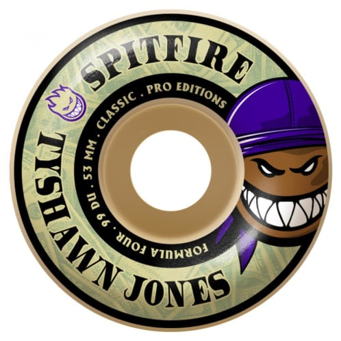 Spitfire Formula Four Tyshawn Pro Burner Classic Wheels 99a - 53mm