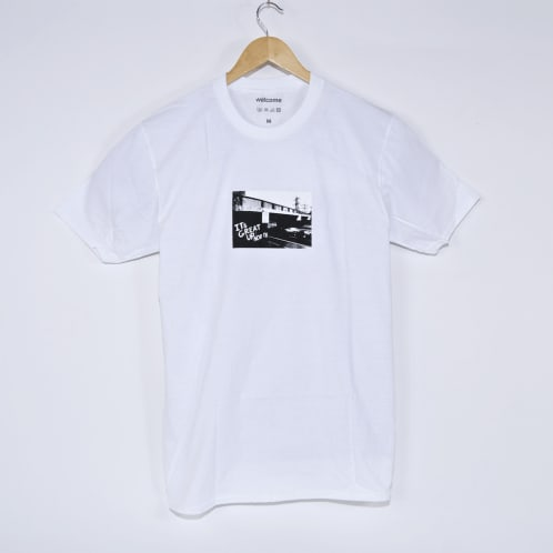 Welcome Skate Store - It's Great Up North T-Shirt - White