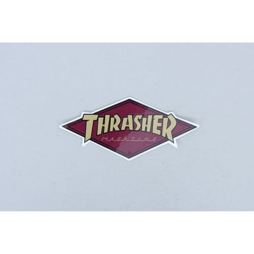 Thrasher Diamond Logo Sticker Burgundy