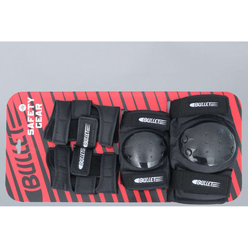 Bullet Skateboard Junior Pad Set Black