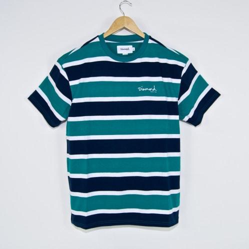 Diamond Supply Co. - Mini OG Script Striped T-Shirt - Teal