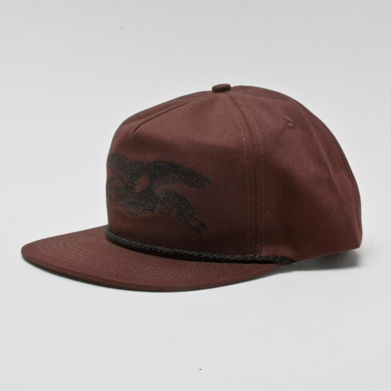 314e7d9794c3 Antihero Basic Eagle Snapback Dark Brown | Hat by Antihero Skateboards