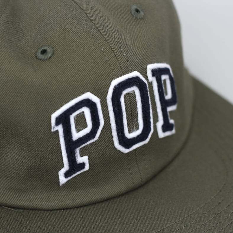 7170007c272d2 Pop Trading Arch 6 Panel Cap Olive | Cap by Pop Trading Company thumbnail 3