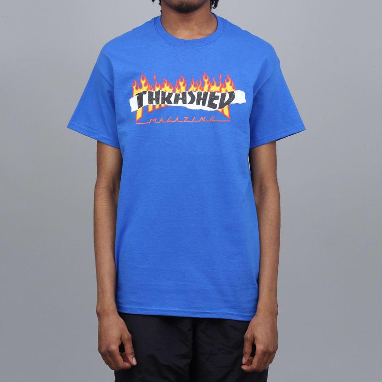 b1ea20ba733e Thrasher Ripped T-Shirt Royal Blue | T-Shirt by Thrasher