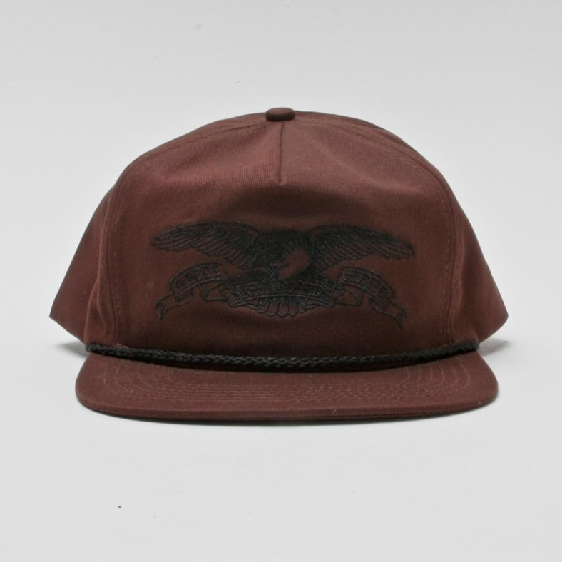 5b8a1870ef80 Antihero Basic Eagle Snapback Dark Brown | Hat by Antihero Skateboards  thumbnail 2
