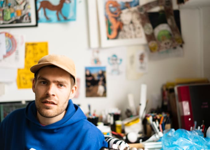 Jacob Ovgren in his Malmö studio