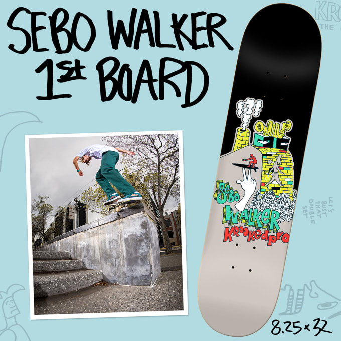 The Sebo Walker Interview: Sebo's first Krooked board