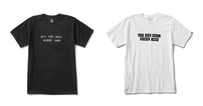 4. The Vans Off The Wall x Baker Skateboards collaboration t-shirt in black and white.