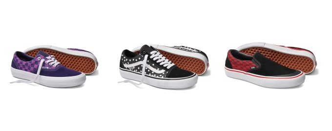 5. Vans skate shoes x Baker Skateboards collection. Vans Slip-On Pro, Vans Old Skool Pro and Vans Era Pro to form the collection