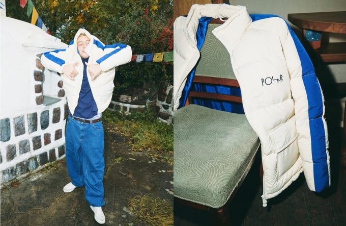 2. Polar Skate Co Winter 19 Collection. Polar Stripe Puffer in cream