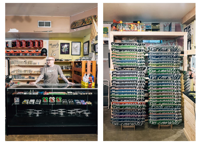 1. No Comply Store, Austin, Texas. Austin's leading skateboard shop owned and ran by Elias Bingham.