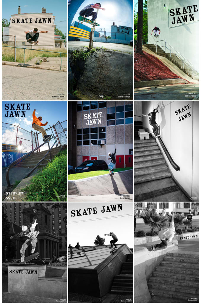 Skate Jawn Magazine covers issue