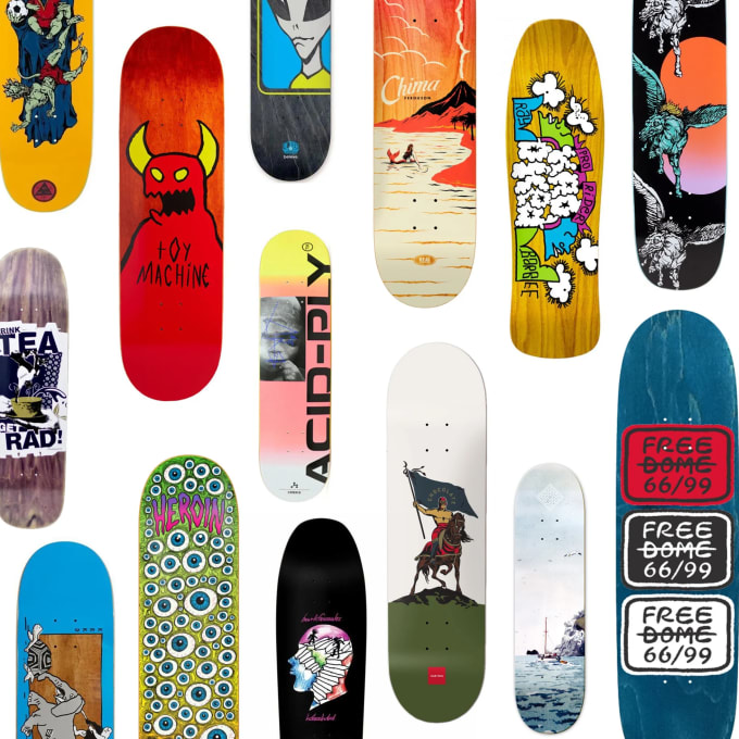 Skateboard deck buying guide Graphics