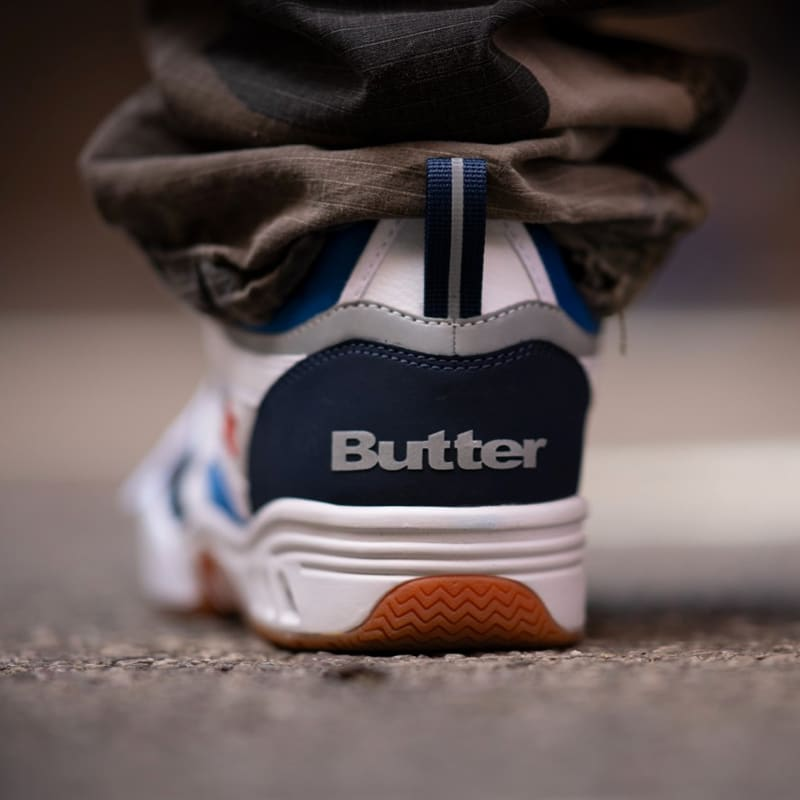 Butter Goods emblem on the DC OG Kalis skate shoe
