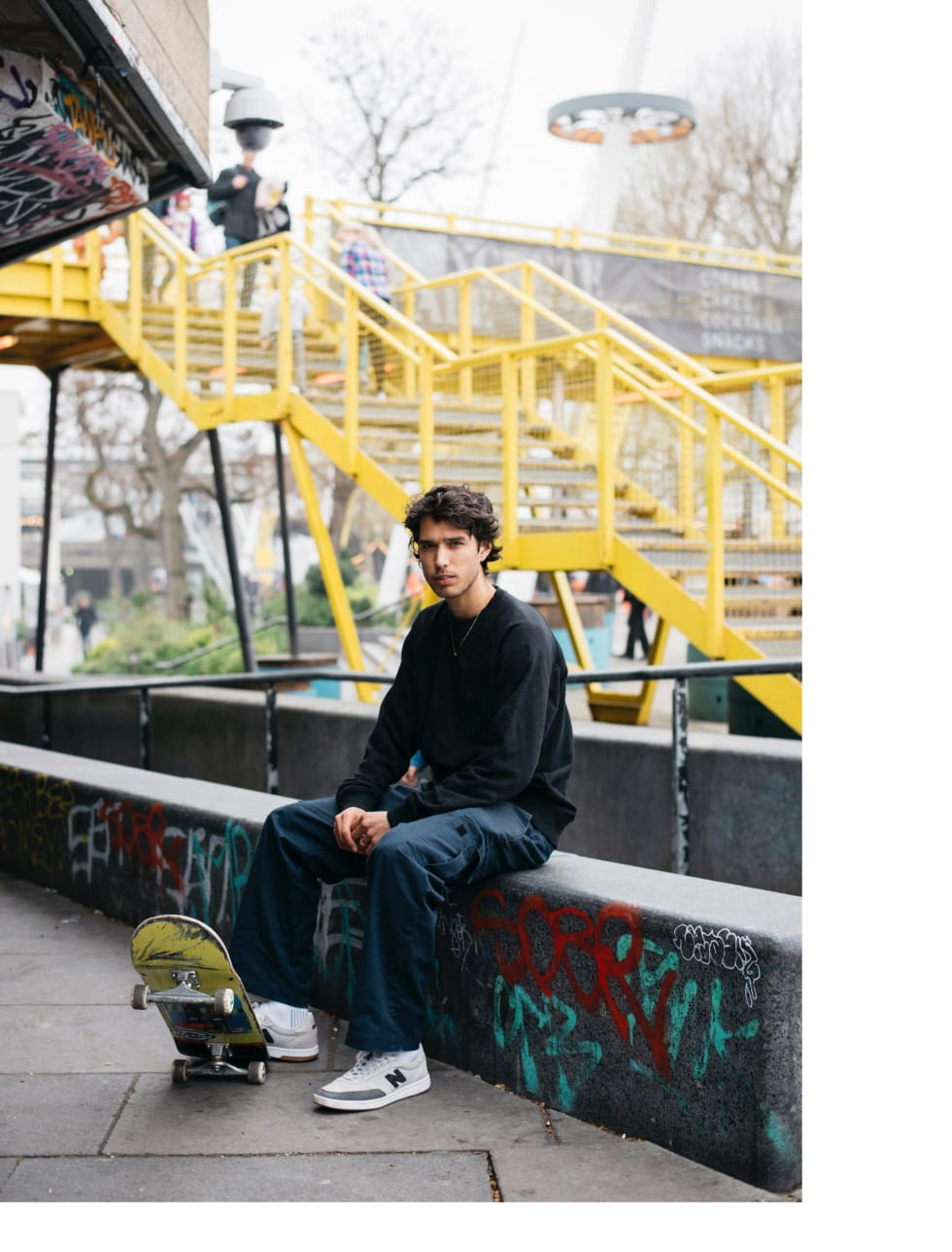Tom Knox at South Bank. Featured for the New Balance 440 skate shoe.
